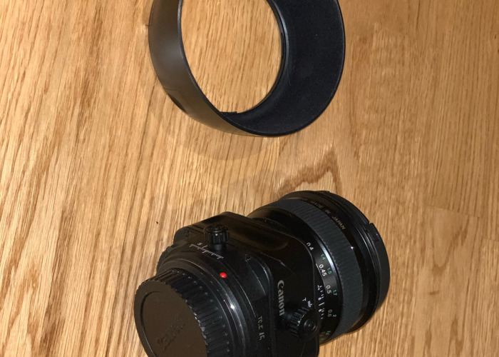 Canon 45mm tilt shift E lens - 1