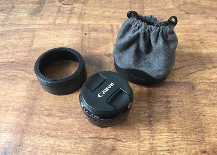 Canon 50mm 1.2 Ultrasonic Prime Lens  - 1
