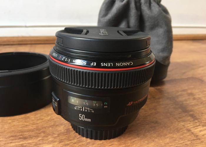 Canon 50mm 1.2 Ultrasonic Prime Lens  - 2