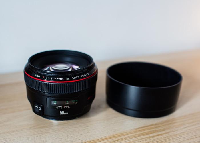 Canon 50mm 1.2L prime lens - 2