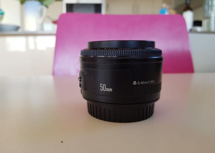 Canon 50mm 1.8 prime lens - 1