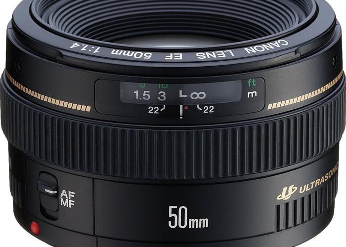 Canon 50mm EF Lens 1:1.4 AF/MF Ultrasonic - 1