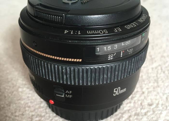 Canon 50mm f1.4 Lens - 1