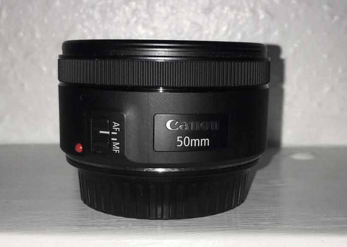 Canon 50mm lens STM - 1