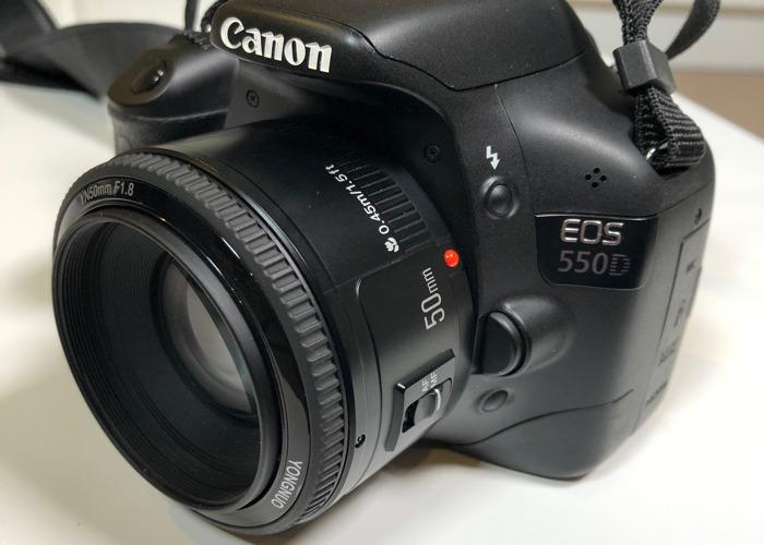 Canon 550D DSLR + 50mm lens - 1