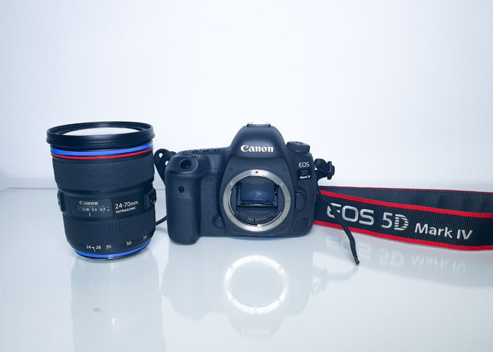 Canon 5D mark 4 + Canon 24 - 70 mm 2.8/f - 1