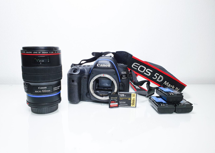Canon 5D mark 4 camera + 100 mm Canon Lens 2.8 f IS USM, London - 1