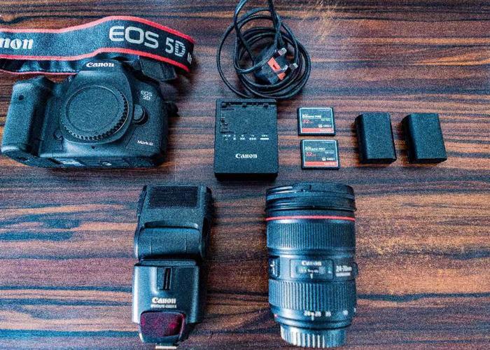 Canon 5D Mark III Camera + EF 24-70mm F/2.8L II USM Zoom Lens  - 1