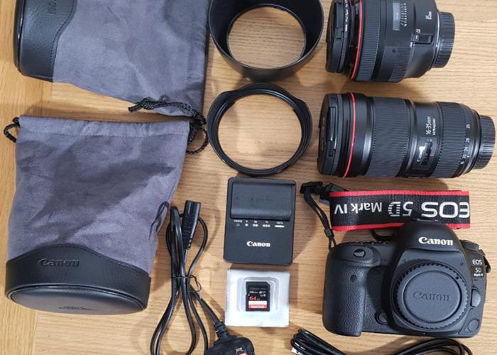 Canon 5D Mark IV + 16 35 mm + 85 mm + bag - 2