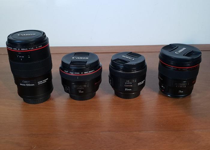 Canon 5d Mark IV + 24mm, 35mm, 50mm, 100mm Lens - 2