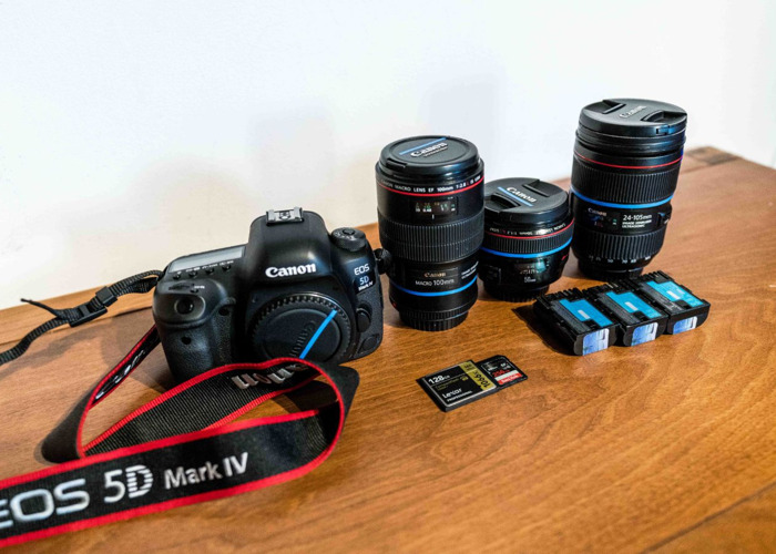 Canon 5d Mark IV + EF 24-105mm f/4, 50mm f/1.2, 100mm f/2.8 - 1
