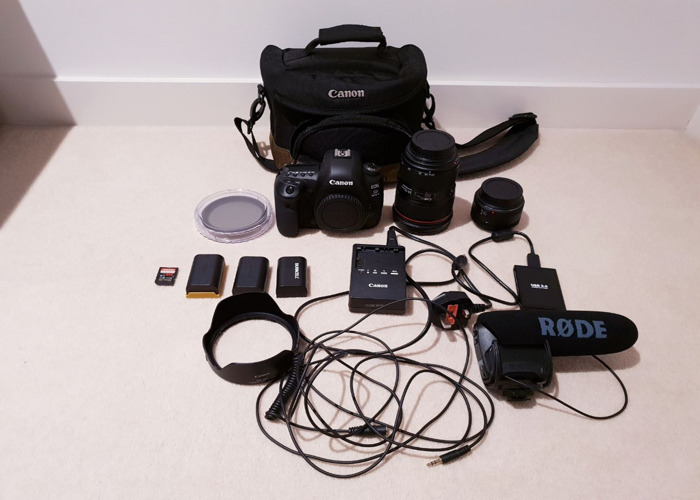 Canon 5D Mark IV Camera + 24-70mm & 50mm Lens + Mic + Accessories - 2