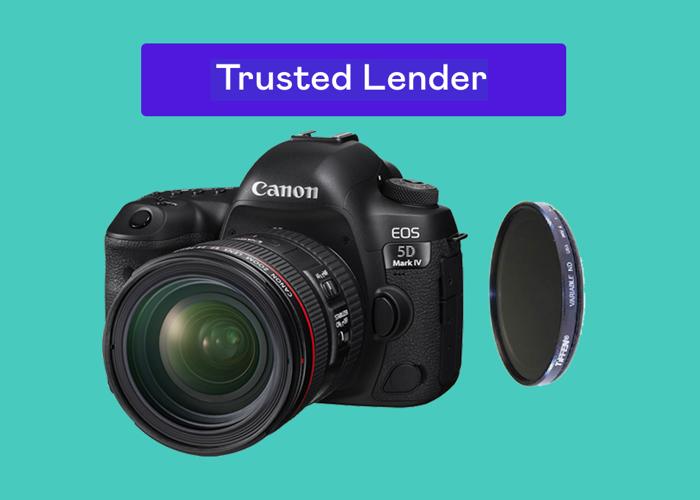Canon 5D Mark IV Camera + 24-70MM 2.8L Lens + LOTS of accessories - 1