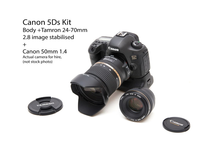 Canon 5Ds with Tamron 24-70mm 2.8 and Canon 50mm 1.4 - 1