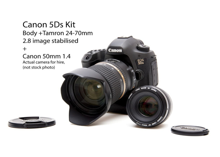 Canon 5Ds with Tamron 24-70mm 2.8 and Canon 50mm 1.4 - 2