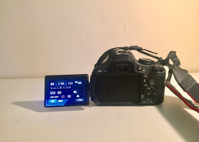 Canon 600D Camera body, with fixed 30mm + Wide angle lenses - 2