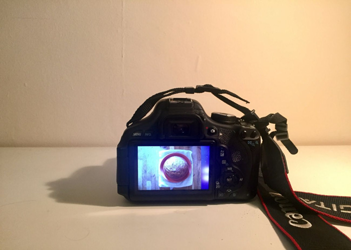 Canon 600D Camera body, with fixed 30mm + Wide angle lenses - 1