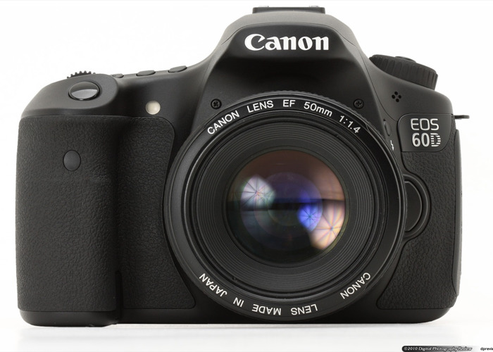 Canon 60D DSLR + Lens & Batteries - 1