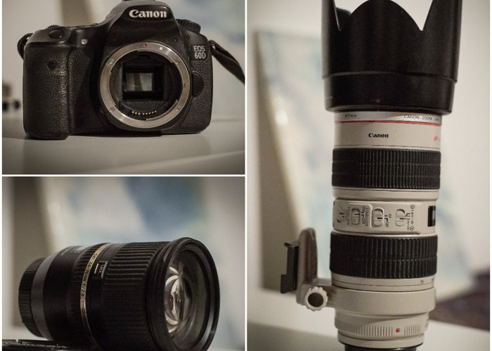 Canon 60d with Lenses - 1