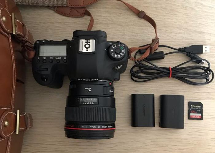 Canon 6D + 35mmL 1.4 + Batteries + SD Card - 1
