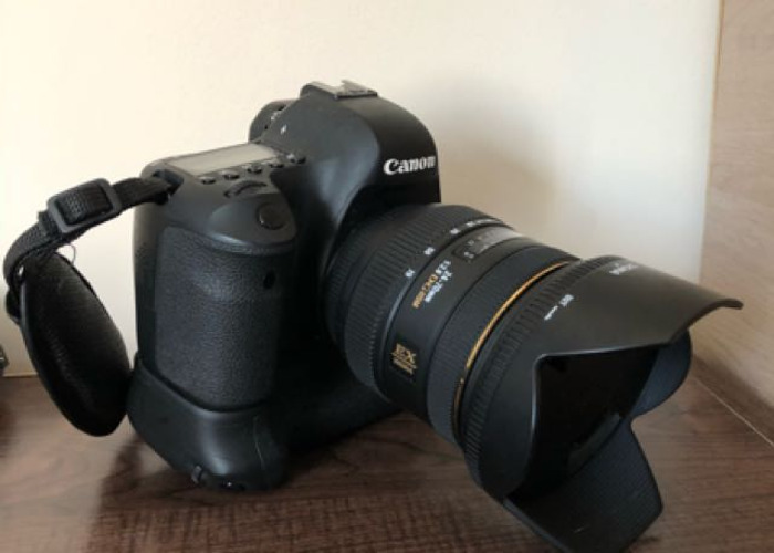 Canon 6d + Sigma 24-70mm + battery grip - 1