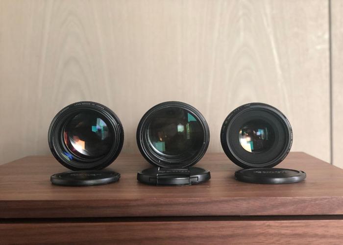 Canon 70-200mm 2.8L ii + 50mm 1.2L ii + 85mm 1.2L ii - 1