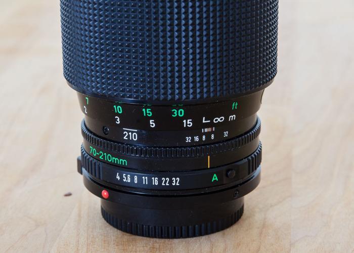 Canon 70-210mm Macro FD Lens with EF adaptor - 2