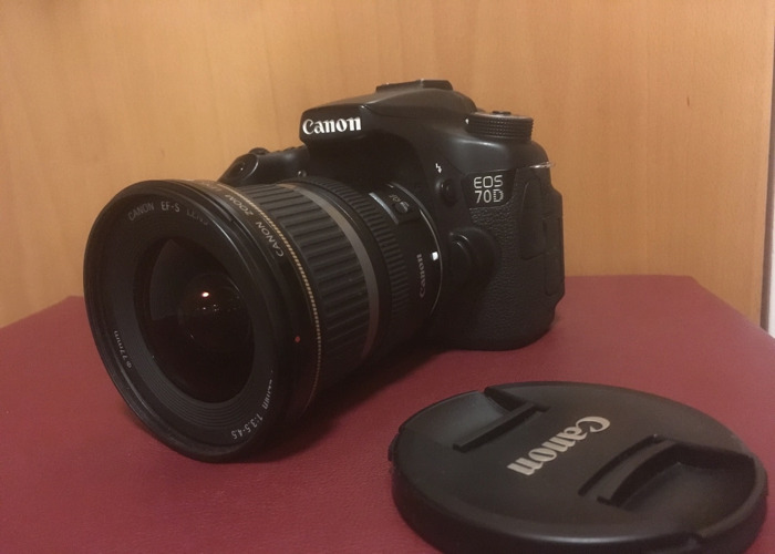 Canon 70D DLSR with EFS 10-22mm Lens - 1