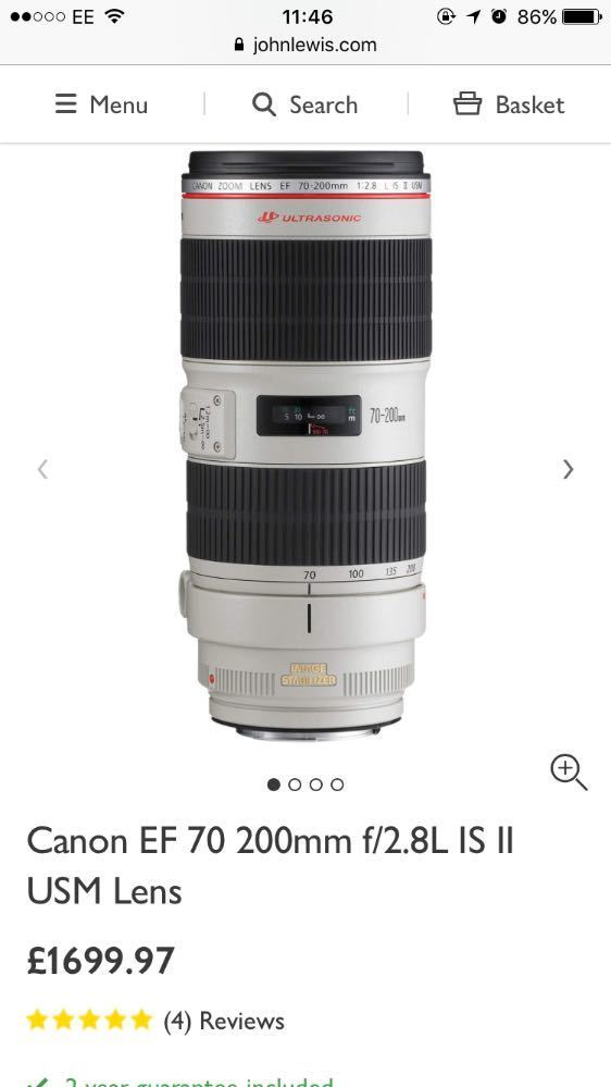 Canon 70mm-200mm EF Lens - 1