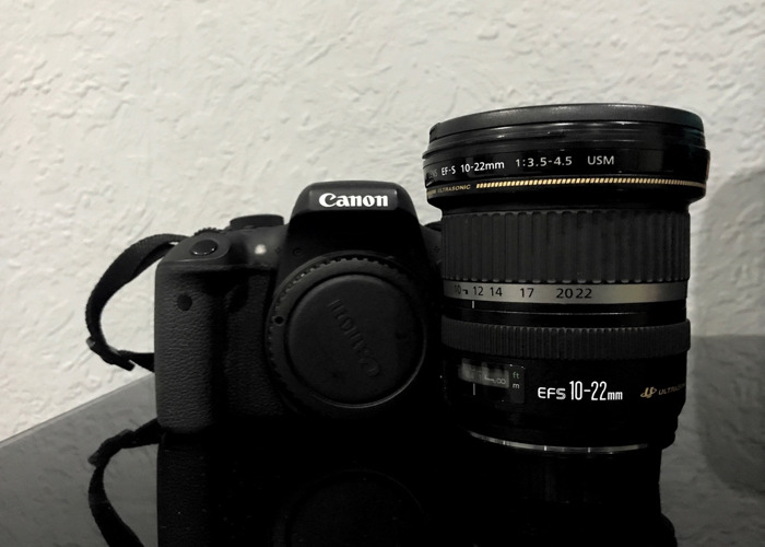 Canon 750d + EFS 10-22 mm lens - 1