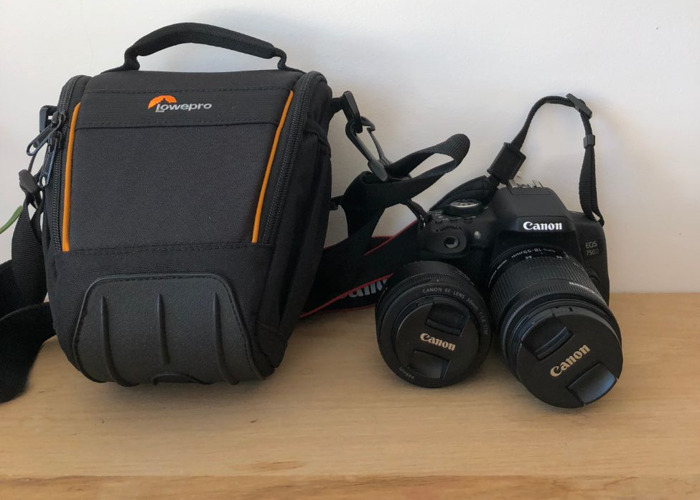 Canon 750D camera - 18-55mm lens, 50mm lens and carry bag - 1