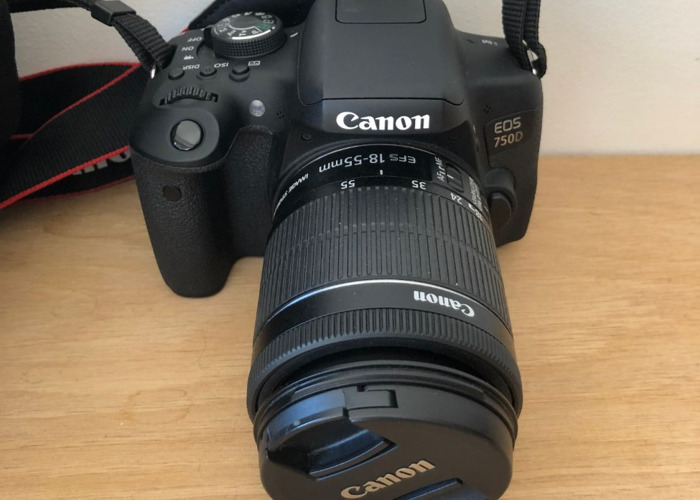 Canon 750D camera - 18-55mm lens, 50mm lens and carry bag - 2