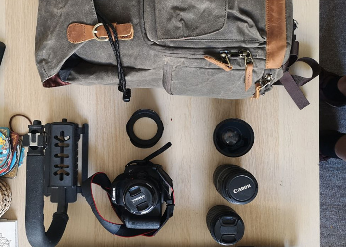 Canon 750d Kit including bag  - 1