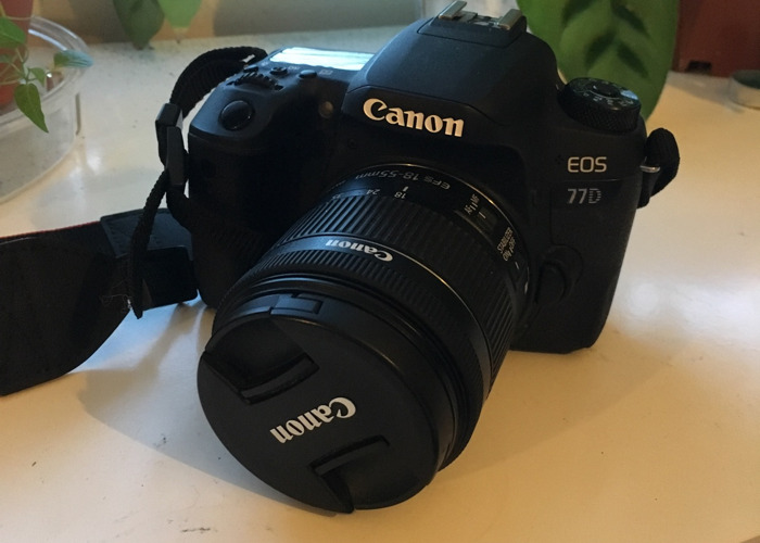 Canon eos 77d with kit lens  - 1