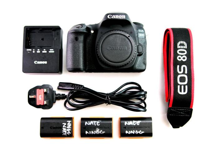 Canon 80D + 1 Lens + 64gb SD + case - 1