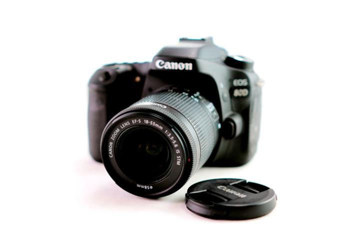 Canon 80D + 1 Lens + 64gb SD + case - 2