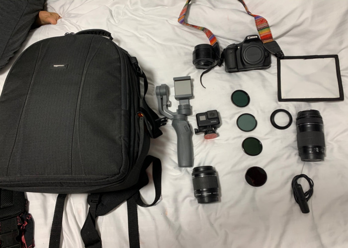 Canon 80D with 18-55mm and 55-250mm 50mm prime lens  - 2