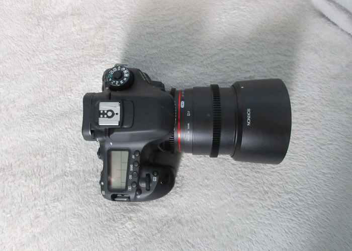 Canon 80d with Rokinon f/1.5 - 2