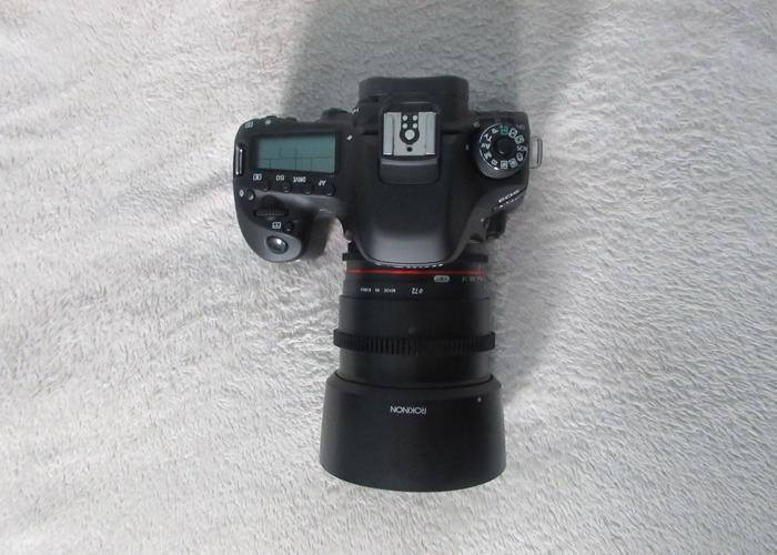 Canon 80d with Rokinon f/1.5 - 1