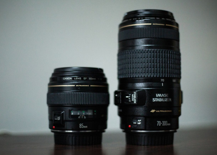 Canon 85mm f1.8 and Canon 70 - 300mm f4 - 5.6 package - 1