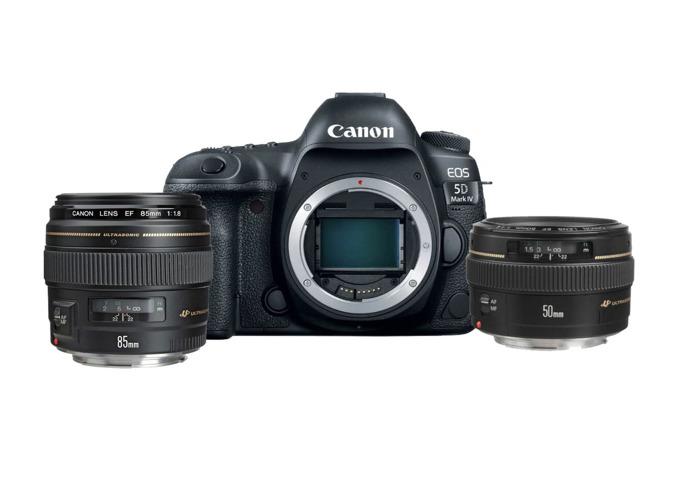 Canon Bundle: 5D Mark IV (full Frame DSLR)+ 50mm F1.4+ 85mm F1.8 - 1