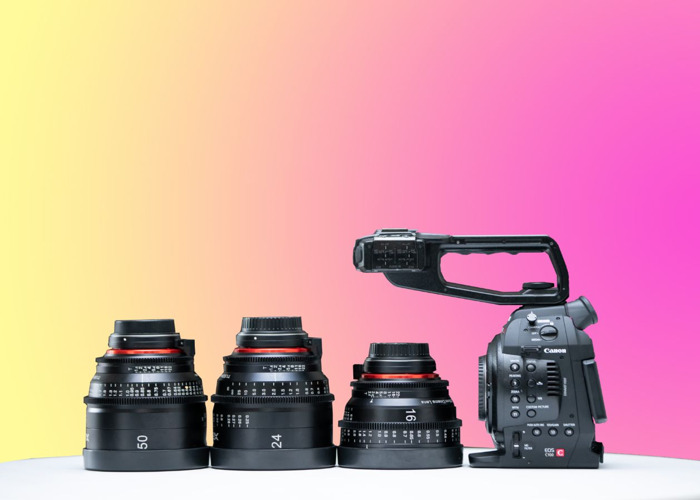 Canon C100 + 3 XEEN Cinema Prime Lenses (16mm / 24mm / 50mm) (C200 & C300 Also Available) - 1