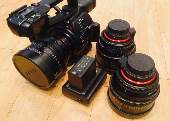 Rent Canon C100 Mark II w/ Samyang Xeen Cine Primes & Accessories in London