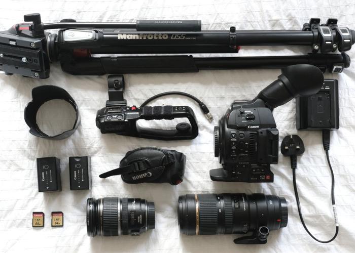 Canon C100 MK2 + 70-200mm, 17-55mm Lenses & Tripod - 1