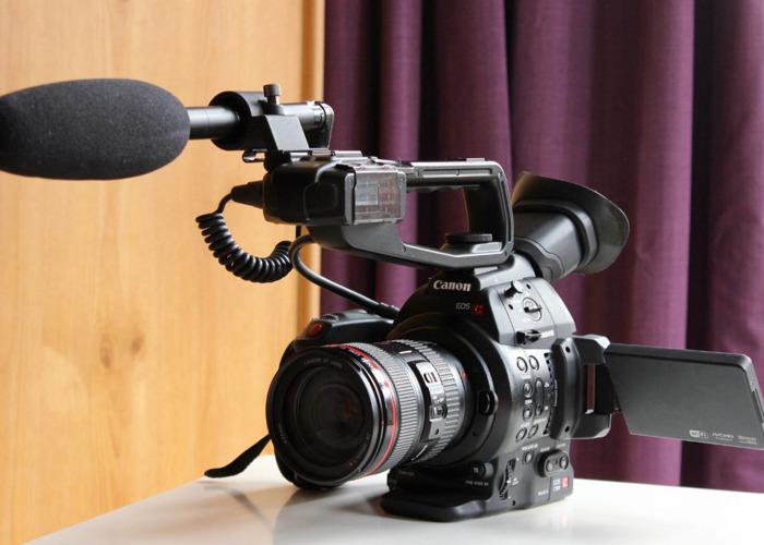 Rent Canon C100 MKII Kit + Sennheiser MKE 600 Shotgun Mic in London