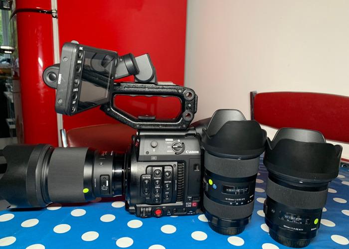 Rent Canon C200 + Sigma Art lenses in Glendale