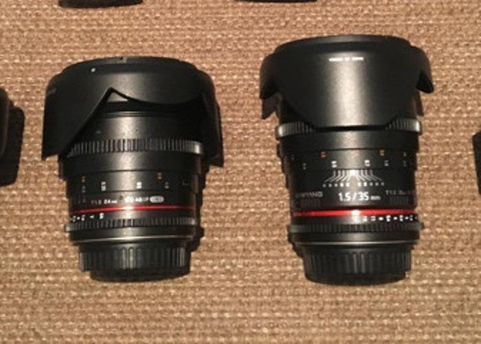 Canon C300 MK I + 1 lens + Samyung Primes - 2