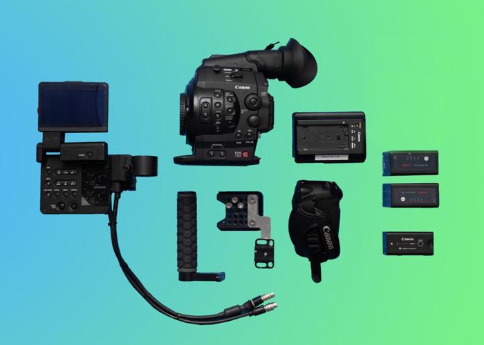 Canon C300 Package (1) + Video Head Tripod + 3 Battereies + 128GB Memory - 1