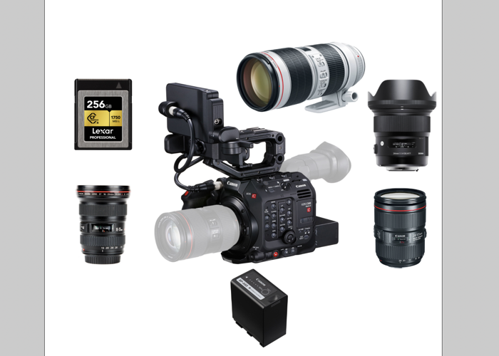 Canon c500 Mark ii + Prime/Zoom Lens + 256g CFexpress  - 1