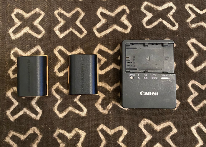 Canon Camera Battery + Charger - 1